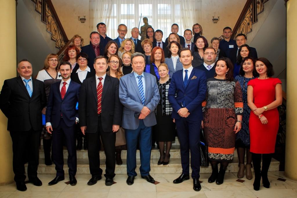Участники научно-практической конференции «Интеграционные процессы: проблемные вопросы правового регулирования и правоприменения», 2015 год.