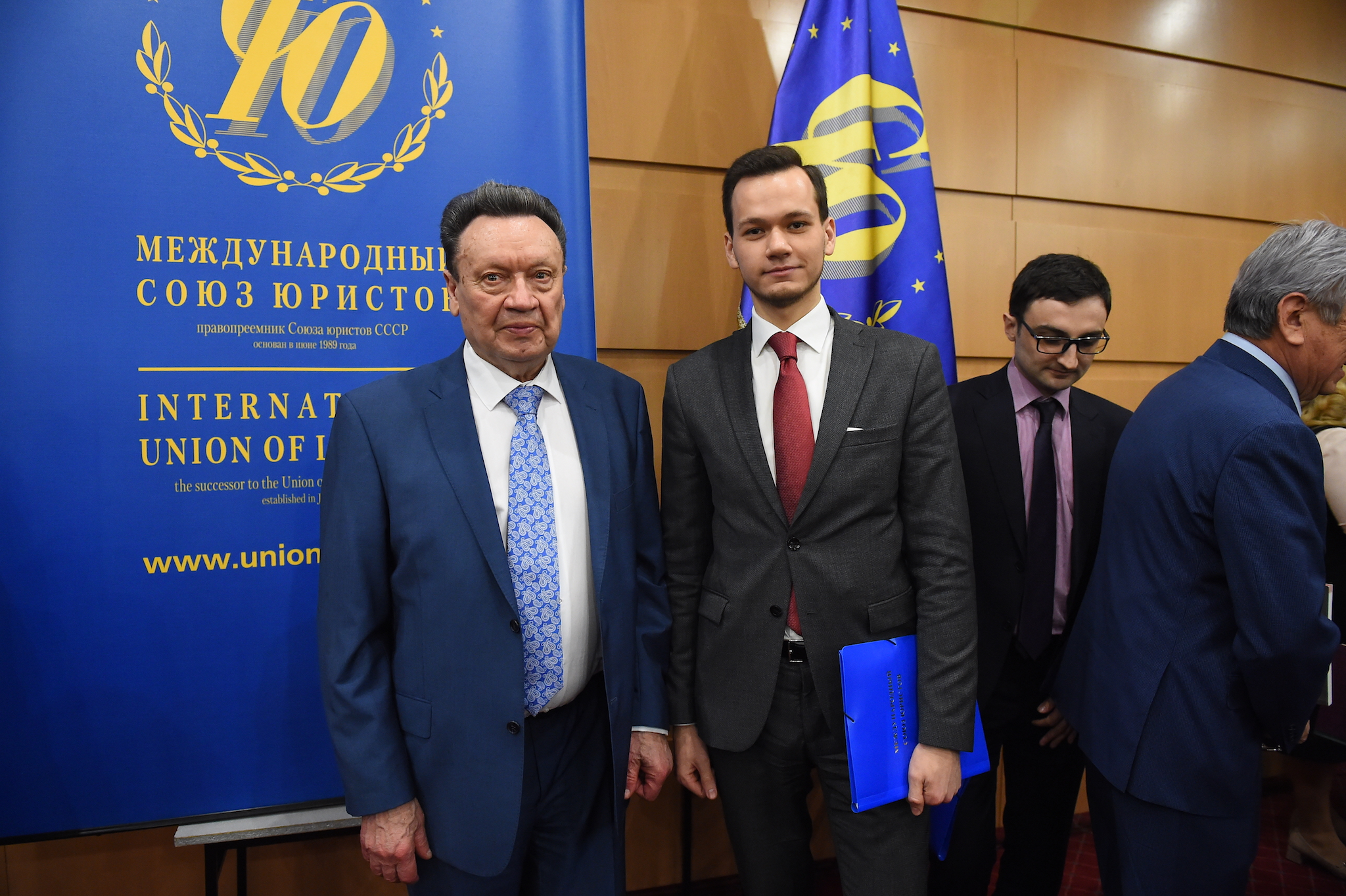 Председатель Международного союза юристов Требков А.А. и Иванов И.Г. на заседании Координационного совета Международного союза юристов, 2016 год.